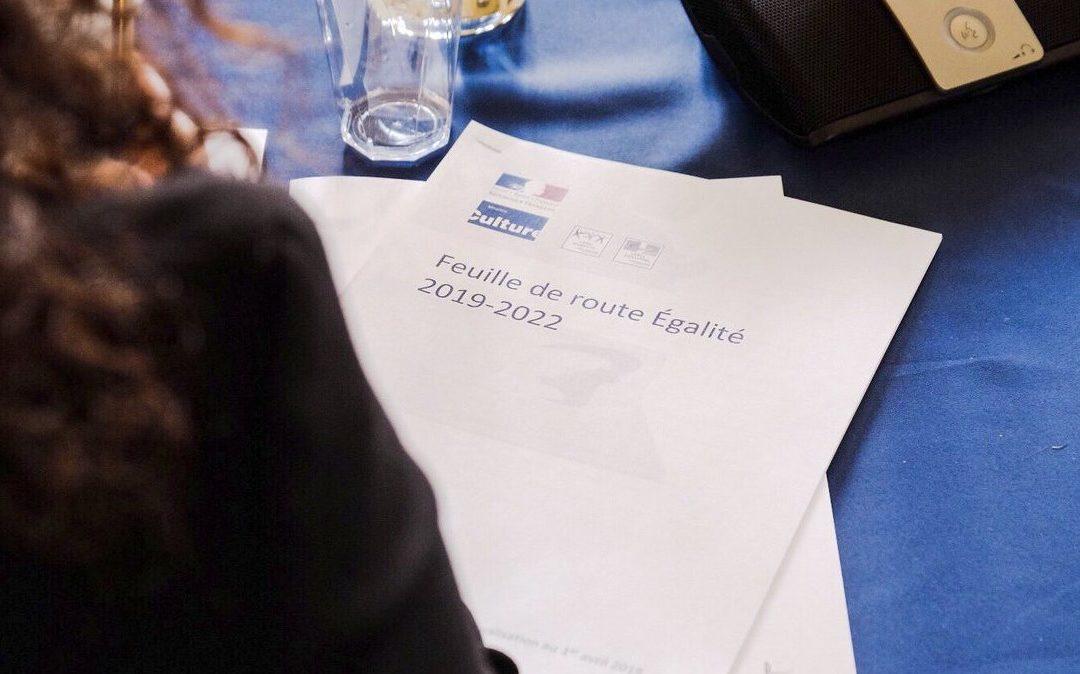 Franck Riester, ministre de la Culture, présente la feuille de route Egalité 2019-2022