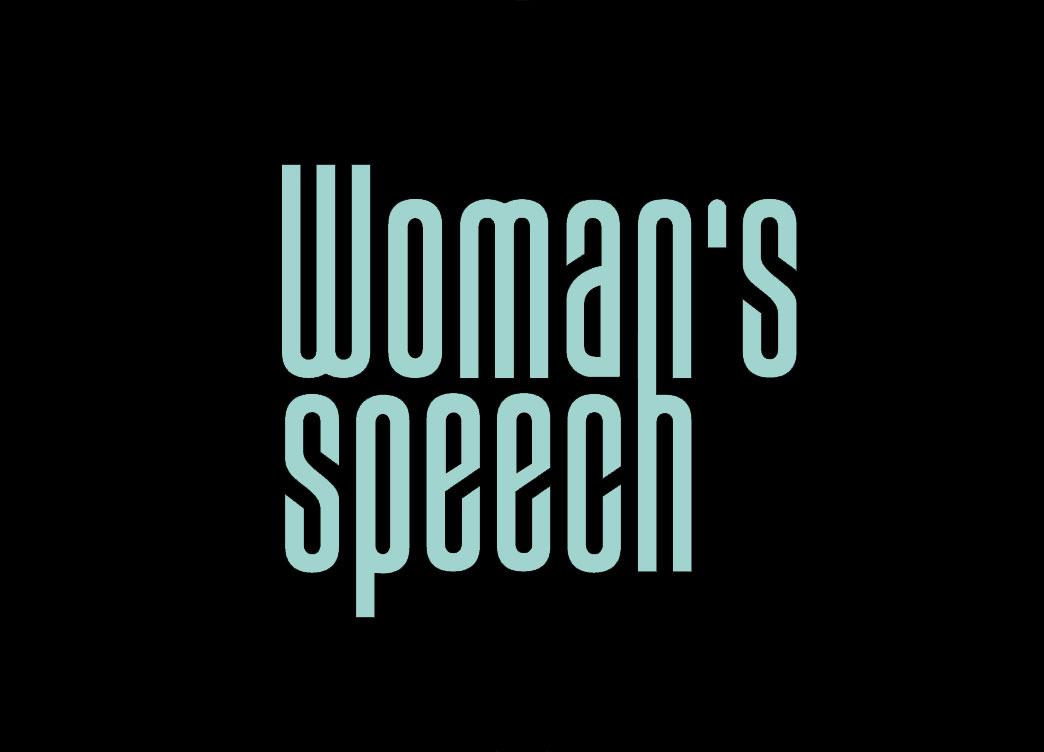 Woman's speech