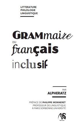 Grammaire du français inclusif