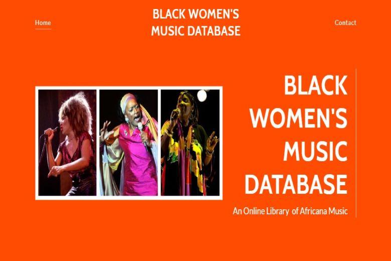 Black women's music database