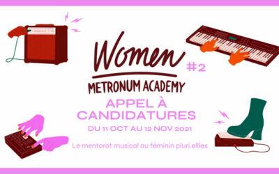 Women Metronum Academy lance un appel à candidatures !